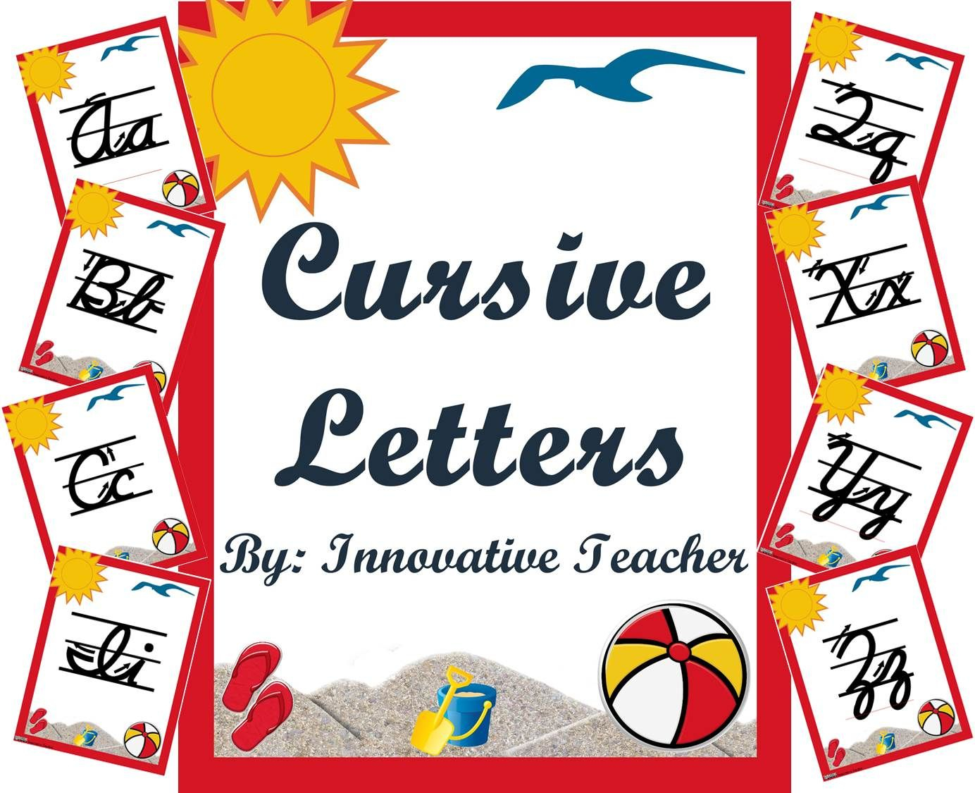 Cursive Writing Letters - D'nealian Style (Back To School