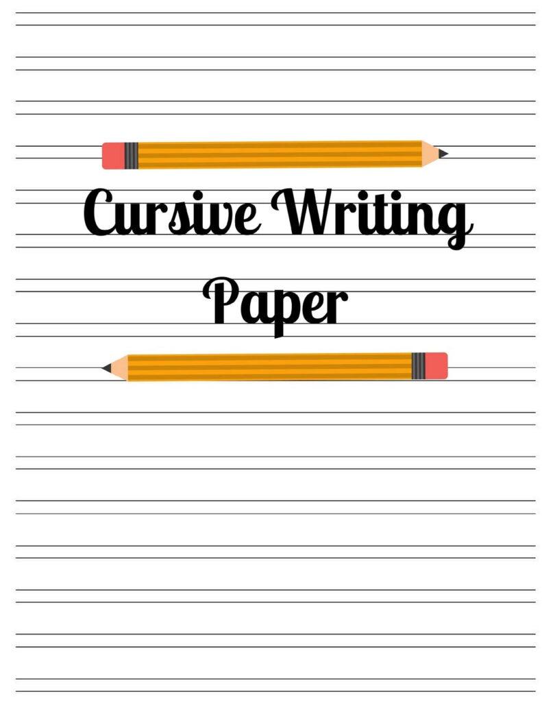 Cursive Writing Paper Journals Kais Pages Alphabet