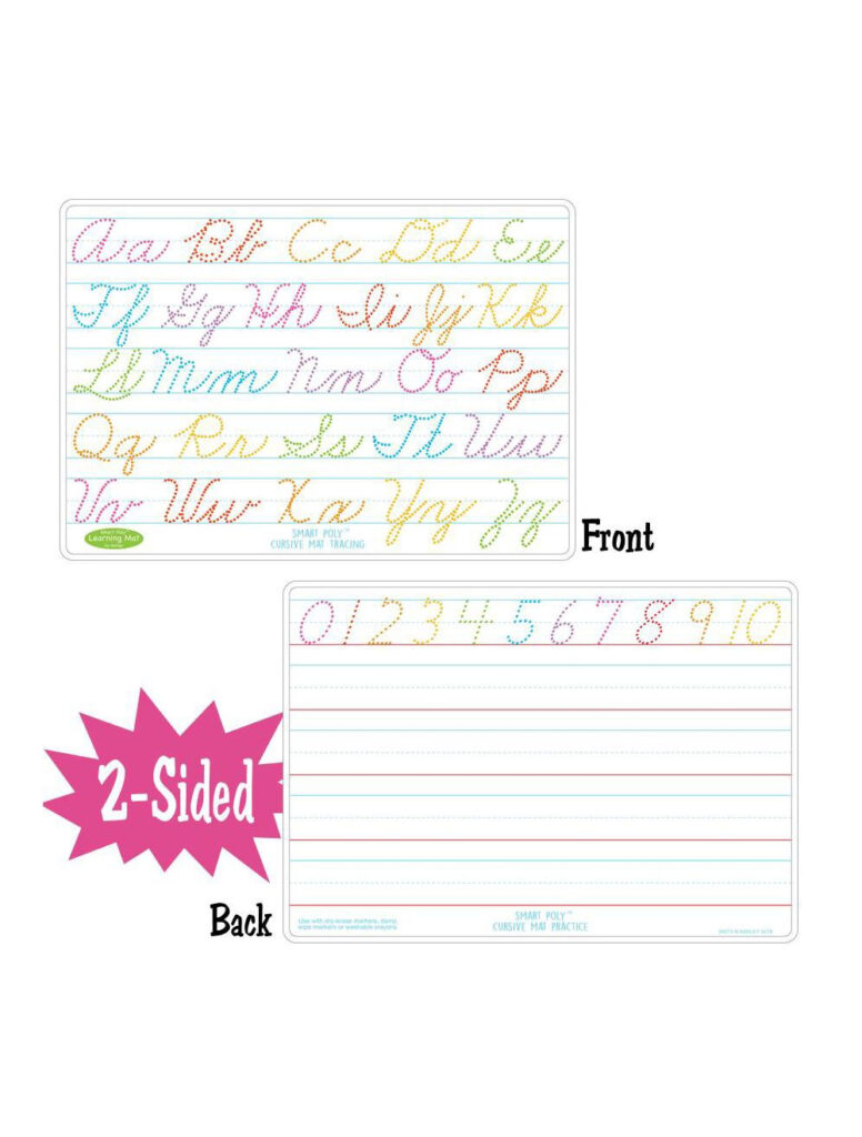 Cursive Writing Smart Poly 2 Sided Learning Mat