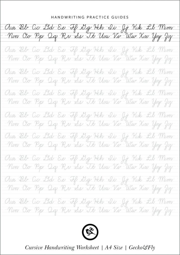 Cursive Writing Worksheets Uk Freeractice Collection Of Within Alphabet Writing Worksheets Uk