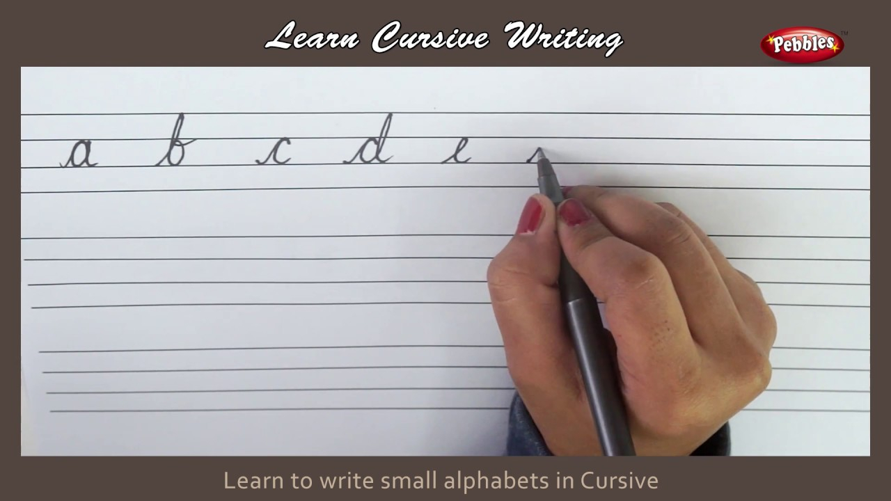 Cursive Writing | Writing Small Alphabets In Cursive | Alphabets In Cursive  Letters