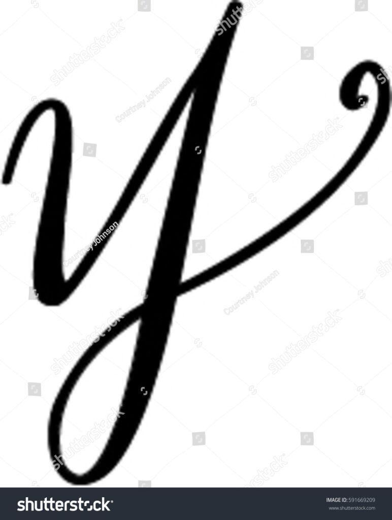 Cursive Y Stock Vector (Royalty Free) 591669209