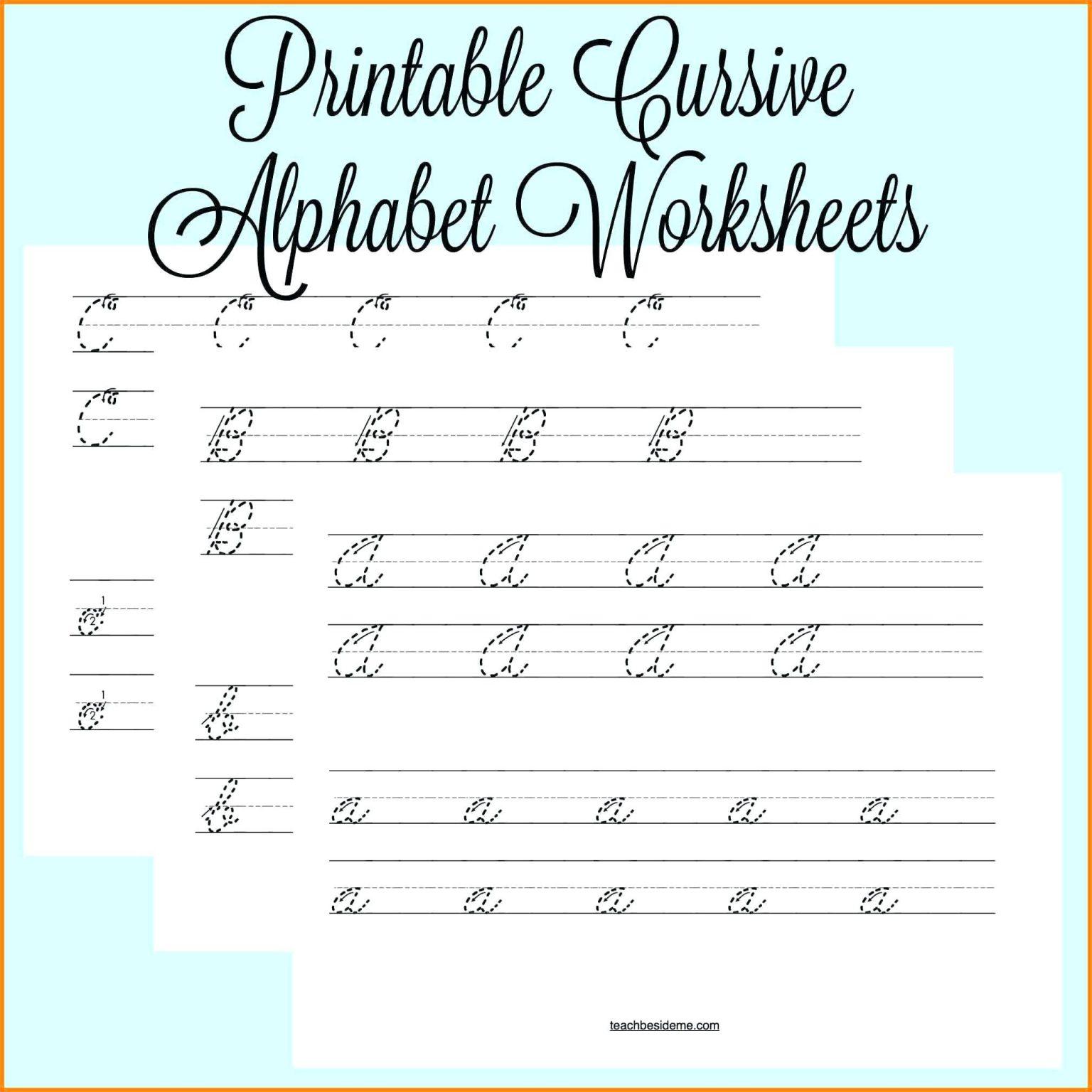 Cursiveandwriting Tracing Worksheets Name Worksheet