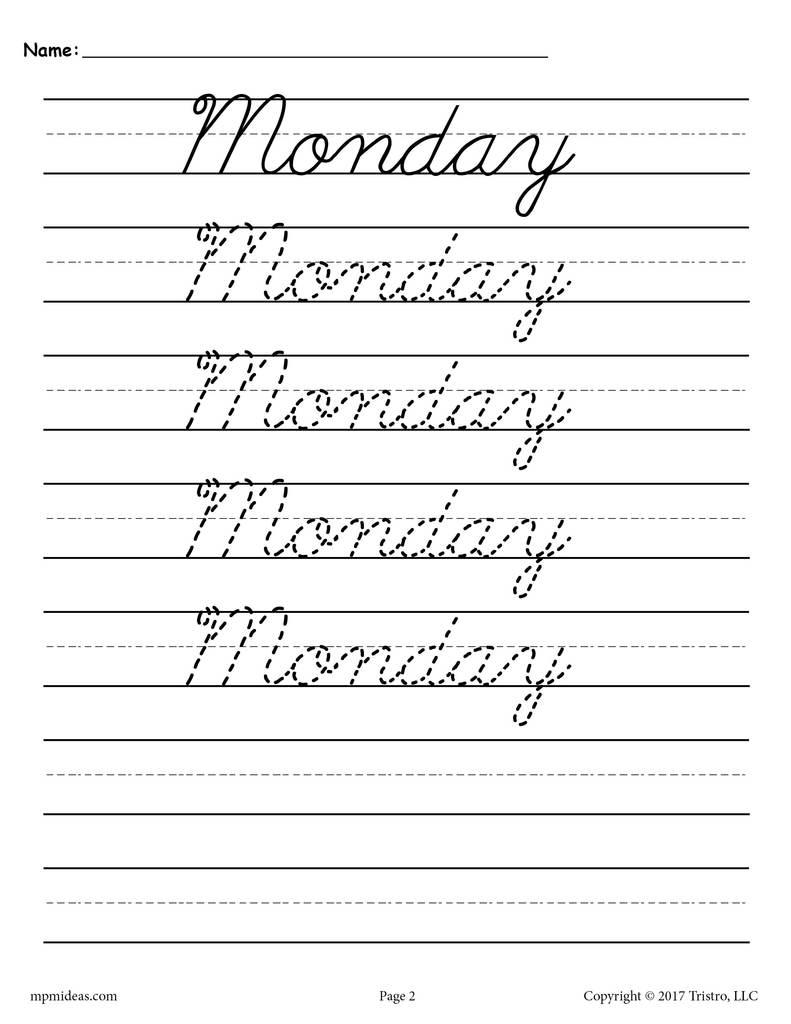 Cursiveing Practice Pages Fantastic Handwriting Worksheets
