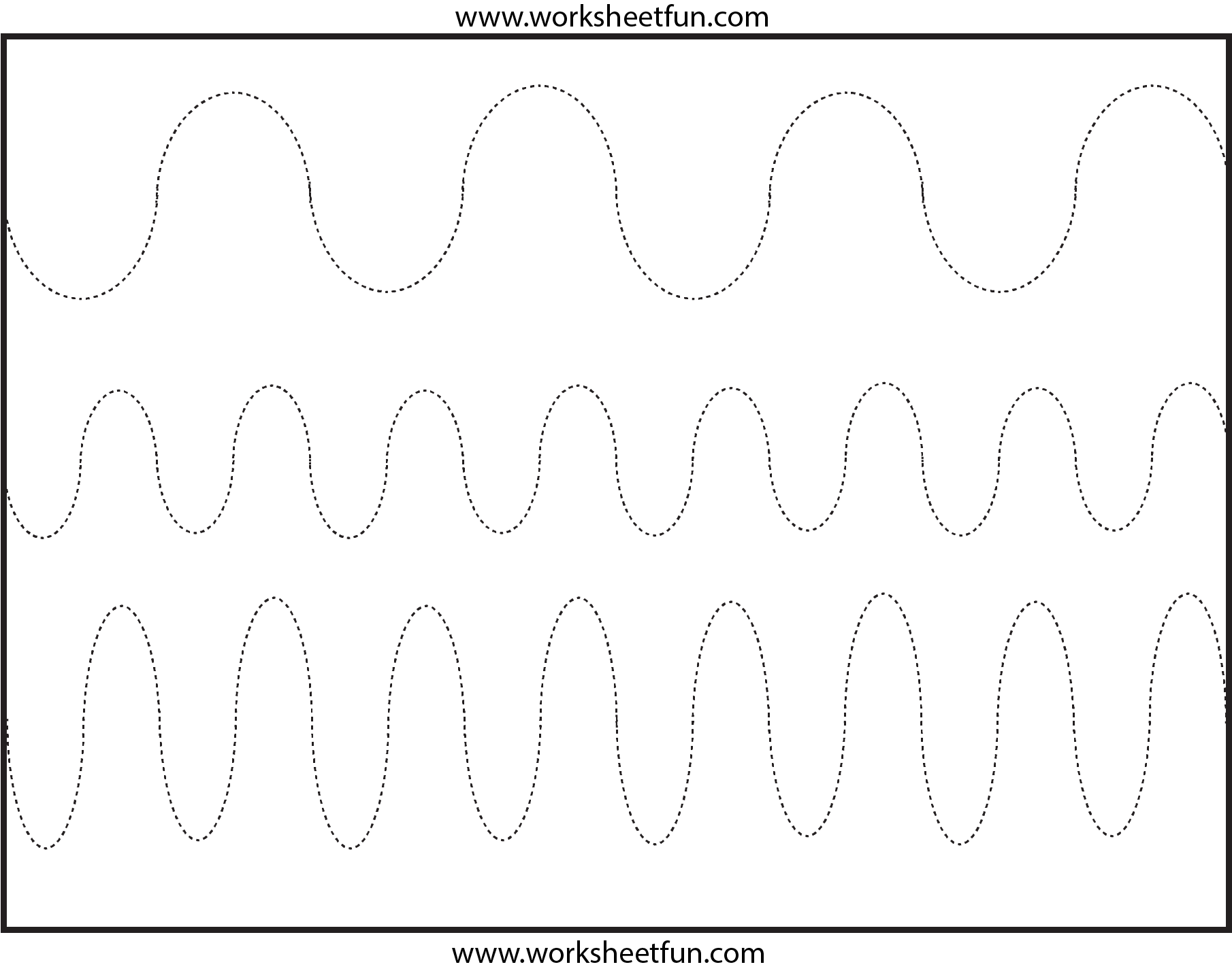 Curved Line Tracing – 3 Worksheets / Free Printable