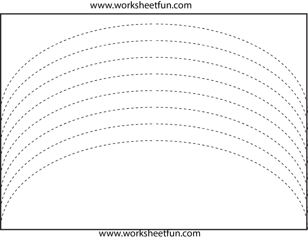 Curved Line Tracing | Preschool Worksheets, Tracing