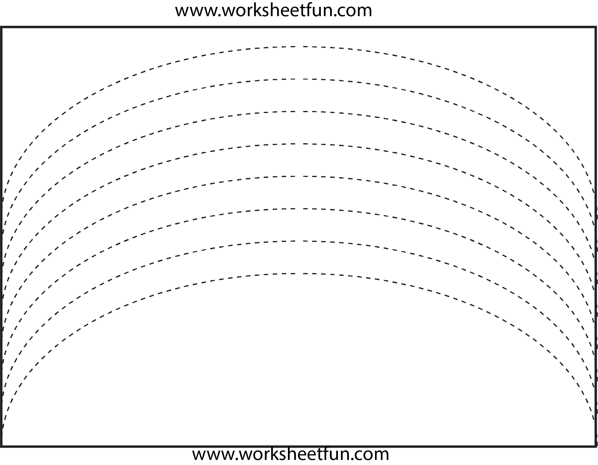 Curved Line Tracing   Preschool Worksheets, Tracing