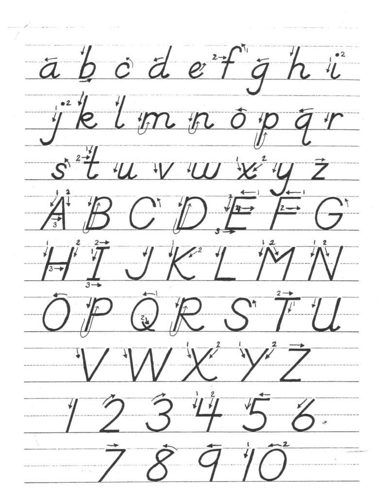 D Nealian Alphabet Worksheets Image Result For D Nealian Intended For D'nealian Alphabet Tracing Worksheets