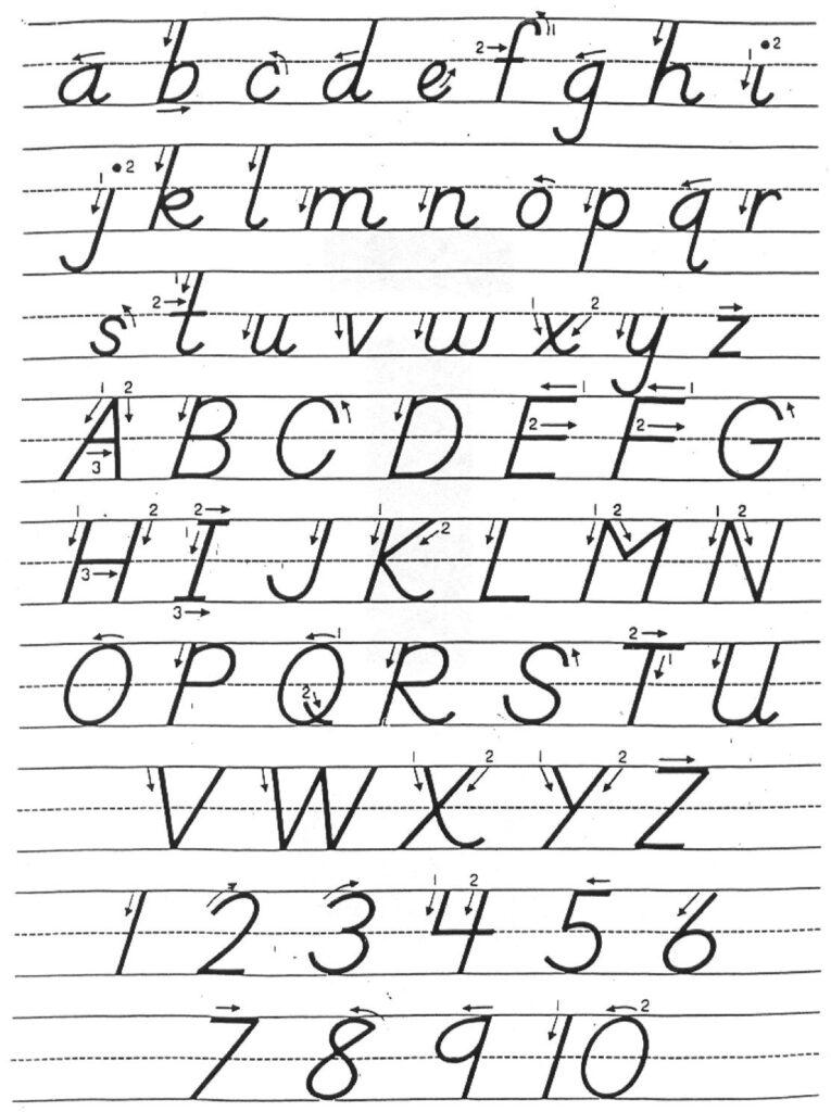 D Nealian Handwriting Practice Worksheets | Kids Activities Regarding D'nealian Alphabet Worksheets