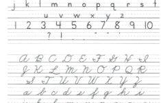 D'nealian Cursive Alphabet Printable