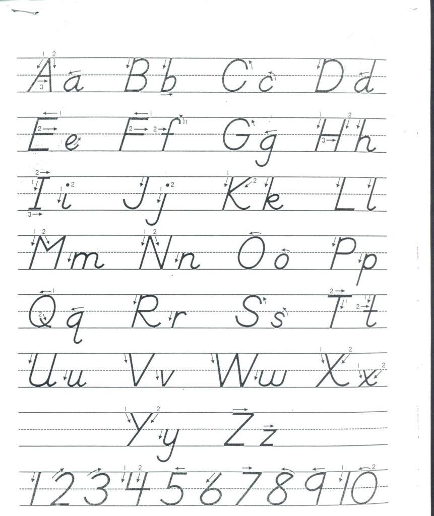 D Nealian Style Handwriting Worksheet Maker | Printable Intended For D'nealian Alphabet Tracing Worksheets