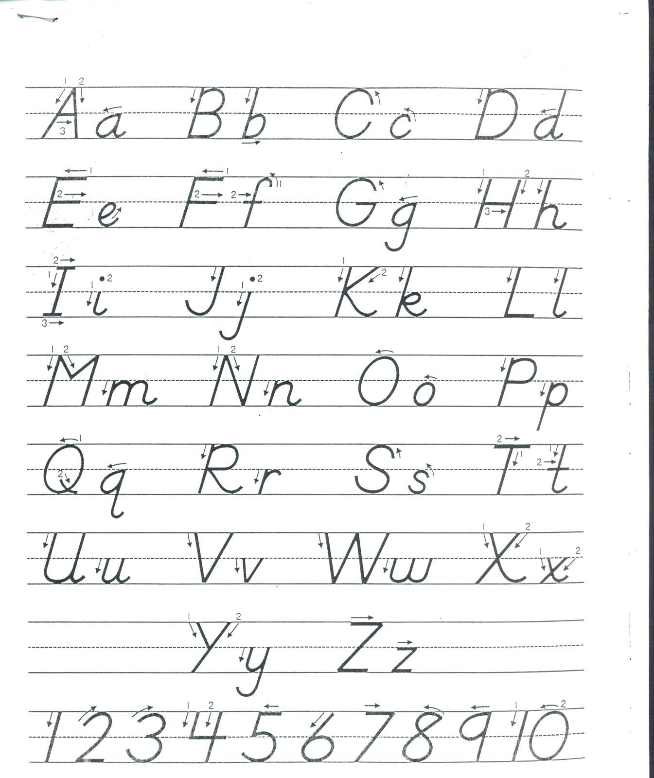 D Nealian Style Handwriting Worksheet Maker | Printable intended for D'nealian Alphabet Worksheets