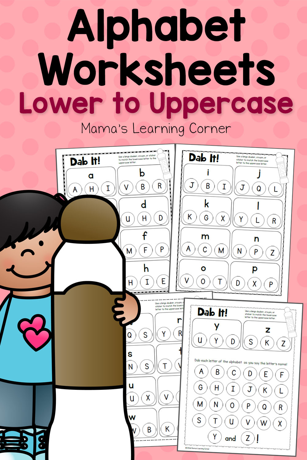Dab It! Alphabet Worksheets - Match Lower And Uppercase throughout Alphabet Dab Worksheets