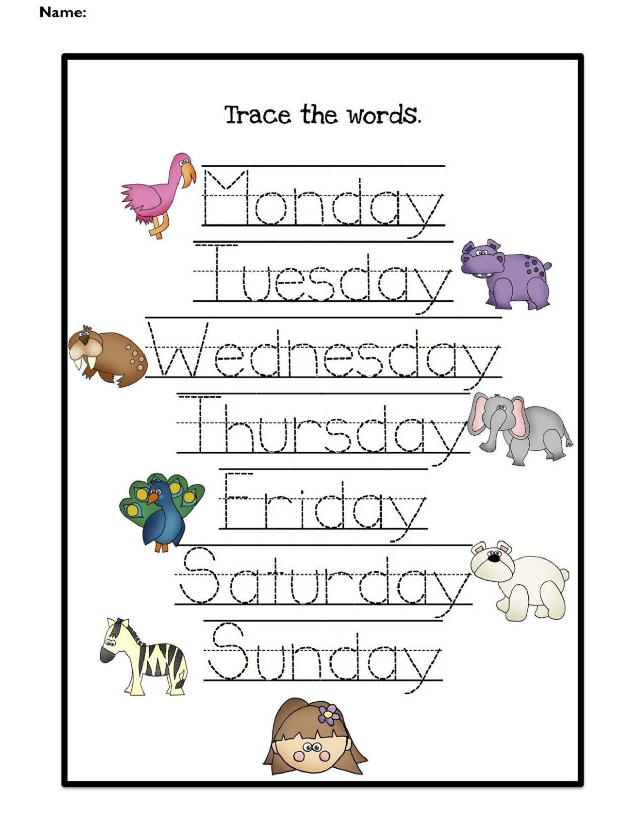Days Of The Week Worksheets | Days Of The Week Activities