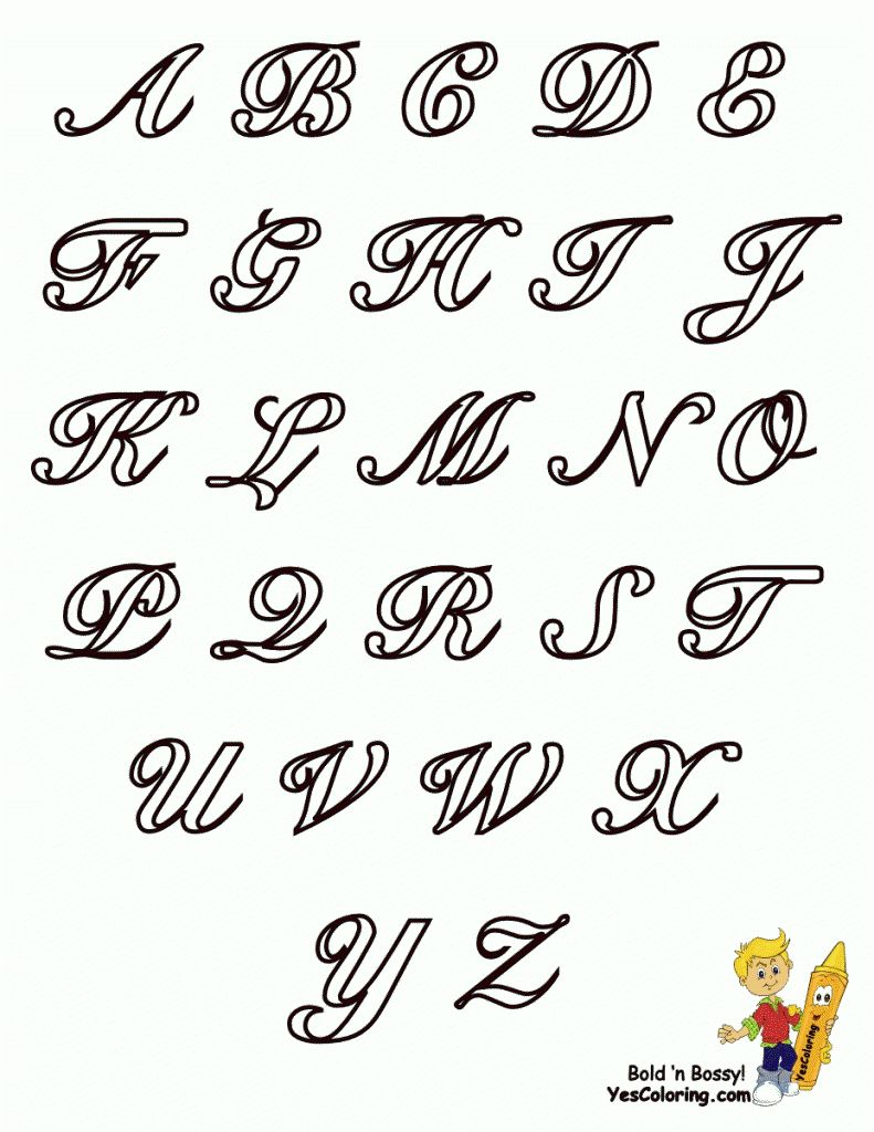 Designs Of Alphabets A-Z Graffiti Letters Alphabet A-Z