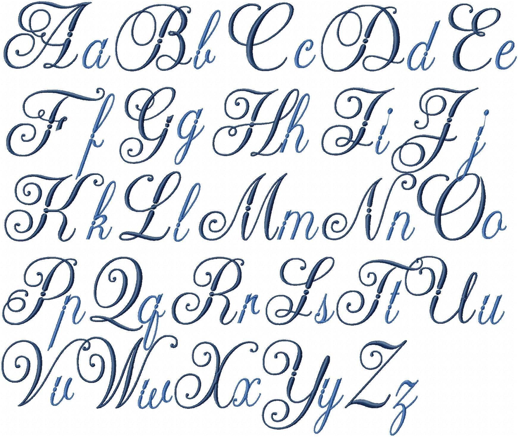 Diplomat Font - Machine Embroidery Font | Cursive Letters