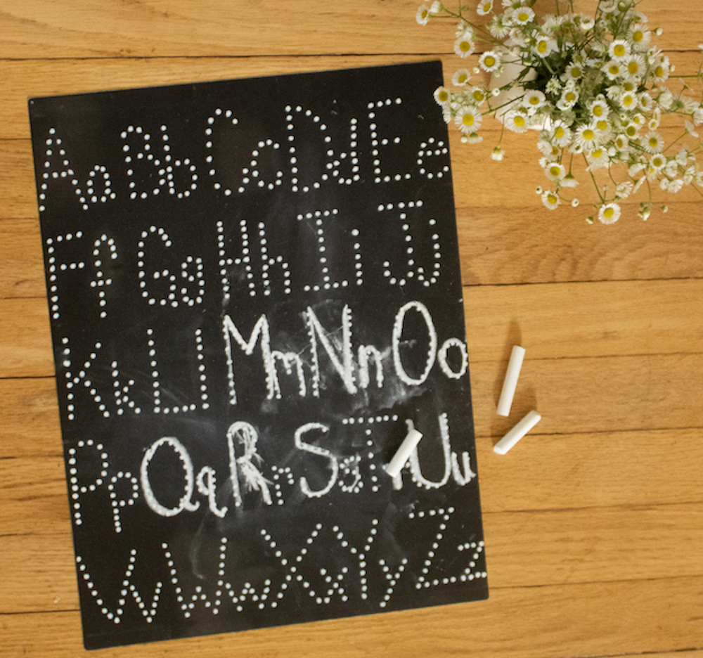 """Diy """"abc"""" Letter Tracing Chalkboard Babyccino Kids: Daily throughout Name Tracing Chalkboard"""