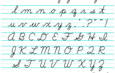 Cursive D'nealian Alphabet