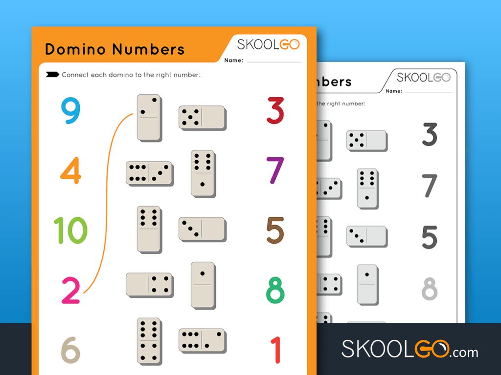Domino Numbers   Free Worksheet For Kidsskoolgo Regarding Alphabet Domino Worksheets