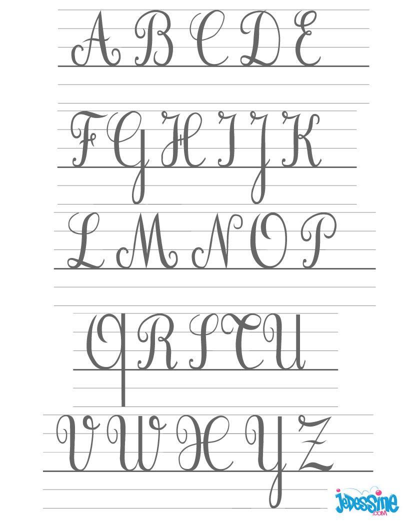Ecrire Les Lettres Cursives En Majuscules | Majuscule