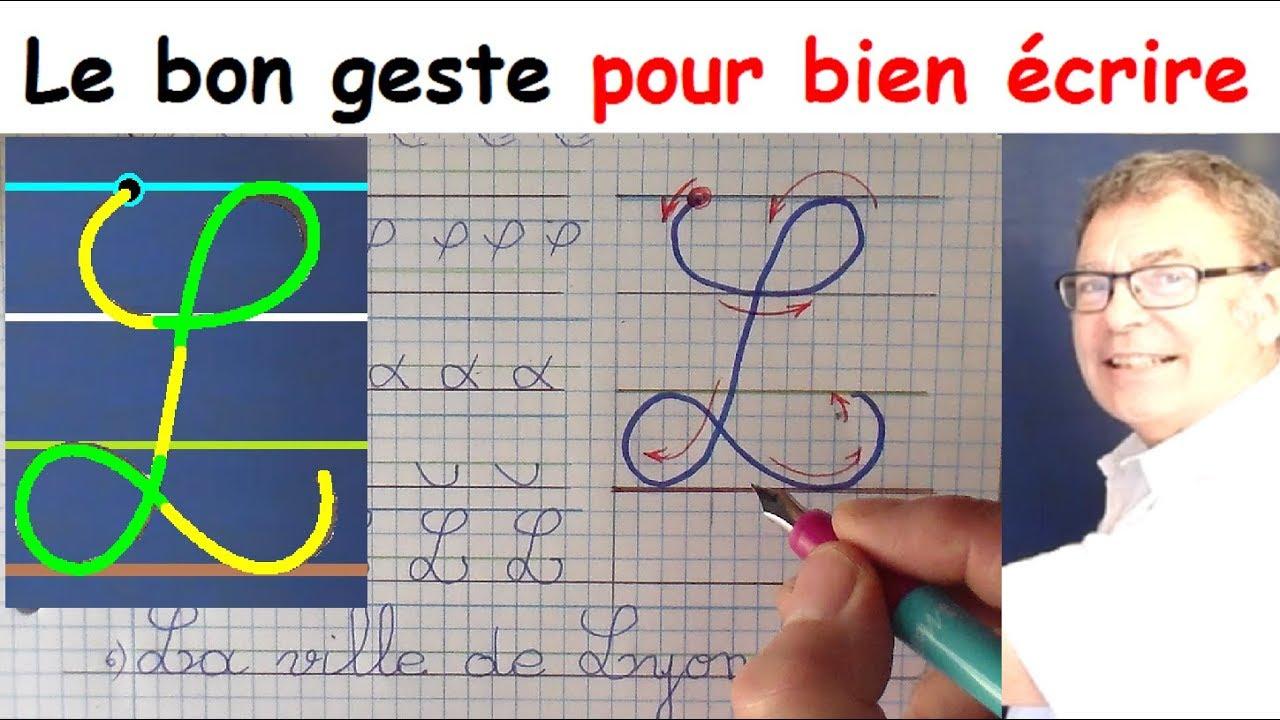 Ecriture Cursive Français Au Cp Ce1 Ce2 : La Lettre Majuscule L