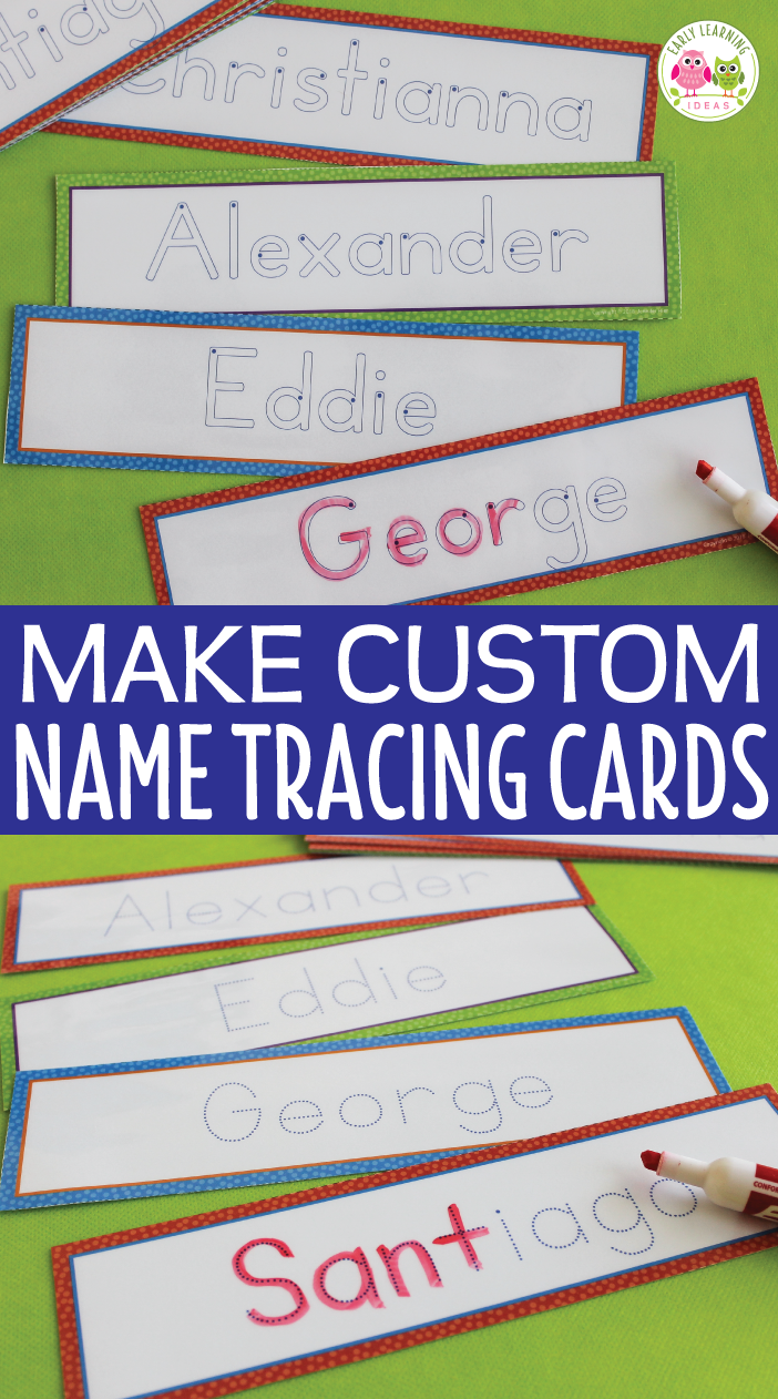 Editable Name Tracing Cards | Name Writing Activities For for Preschool Name Tracing Ideas