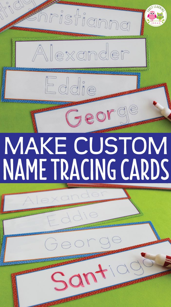 Editable Name Tracing Cards | Name Writing Activities For regarding Tracing Name George