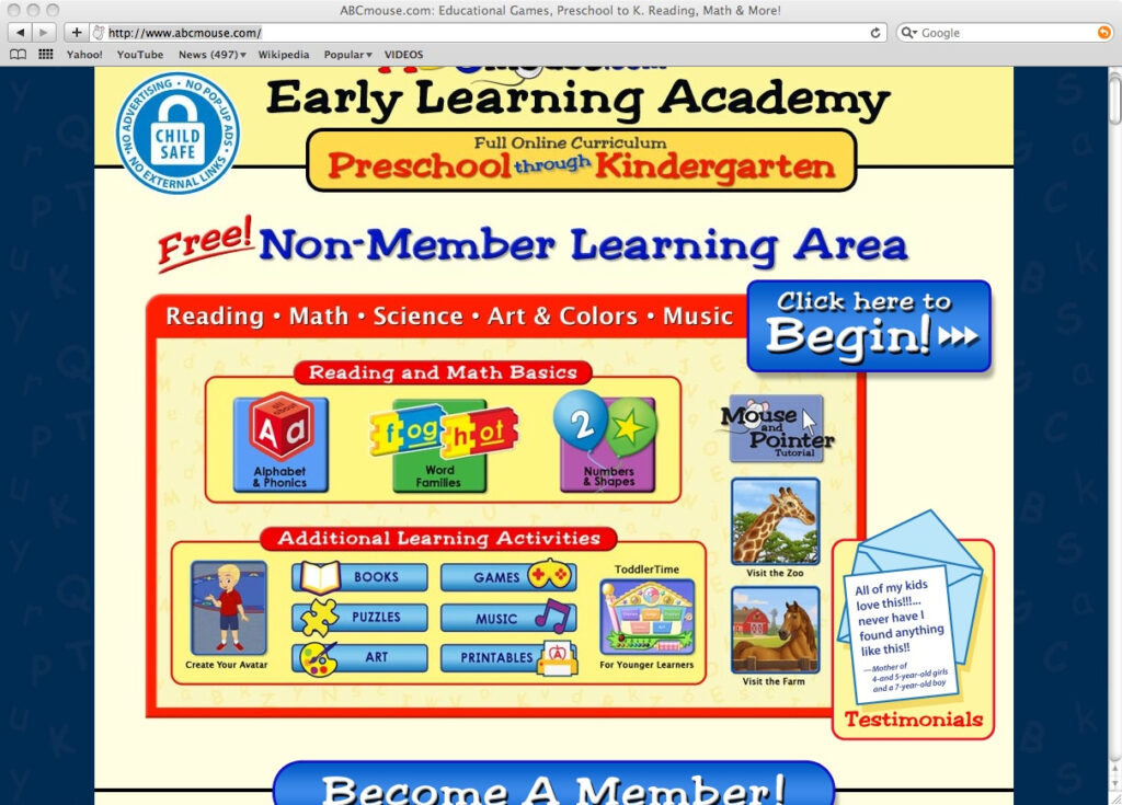Educational Reviews: Abc Mouse With Abcmouse Name Tracing