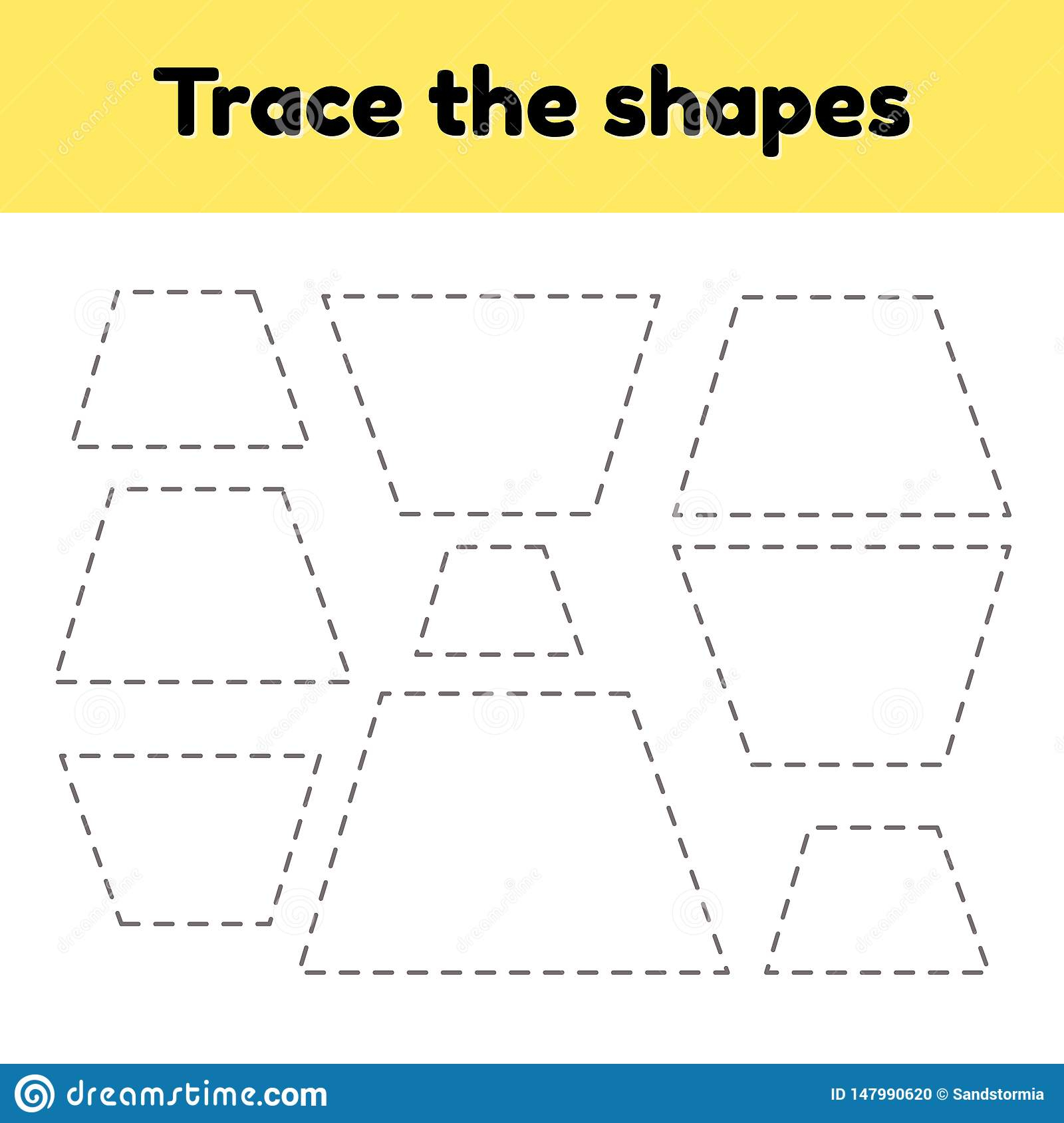 Educational Tracing Worksheet For Kids Kindergarten