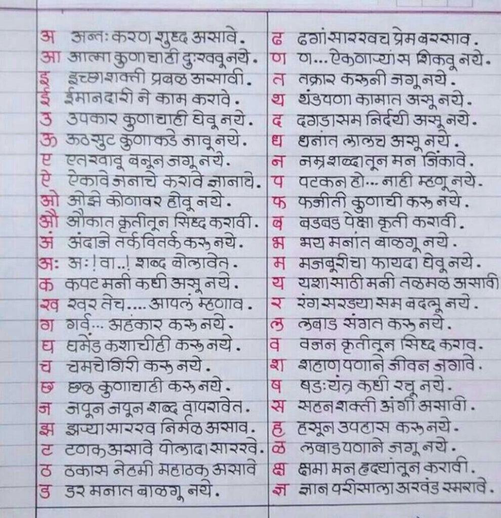 Educaton Marathi Barakhadi | Life Quotes, Inspirational