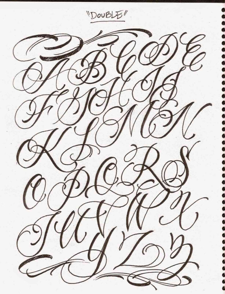 Elegant Cursive Letter Styles Alphabet | Paijo Network