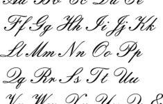 Cursive Alphabet Font