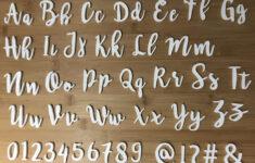 Cursive Alphabet Stamps