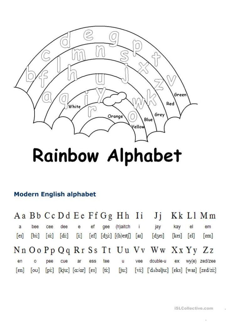 English Alphabet   English Esl Worksheets For Distance Pertaining To Alphabet Worksheets In English