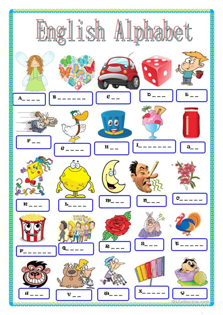 English Alphabet   English Esl Worksheets For Distance With Alphabet Worksheets Islcollective