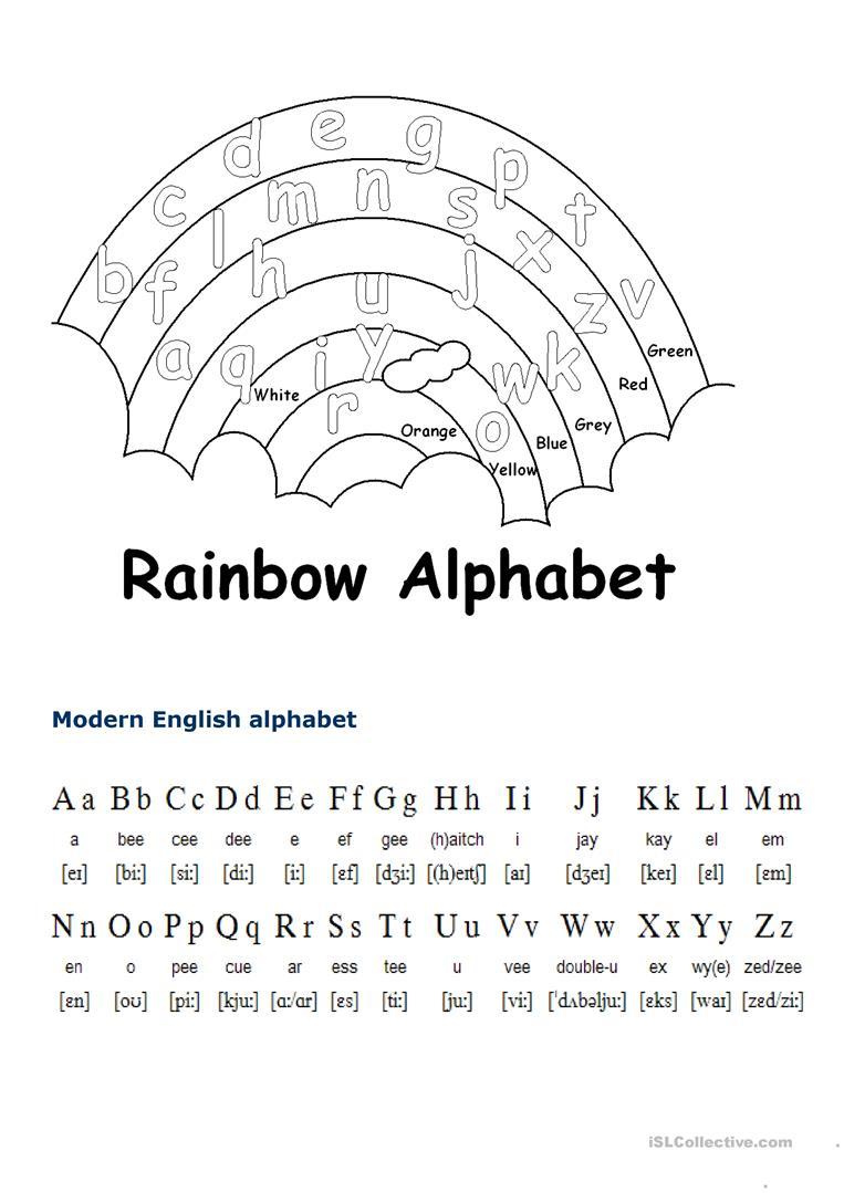 English Alphabet - English Esl Worksheets For Distance within Alphabet Efl Worksheets