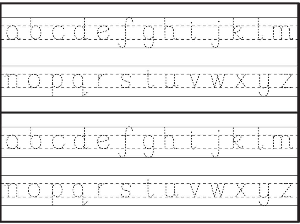 English Alphabet Worksheet For Kindergarten | Handwriting