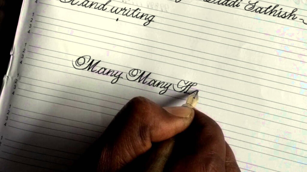 English Cursive Handwriting Happy Birthday Video