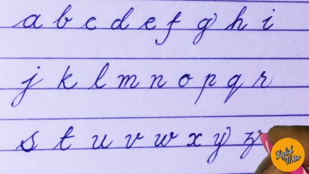 English Small Alphabets | Cursive Handwriting | Stylish Writer