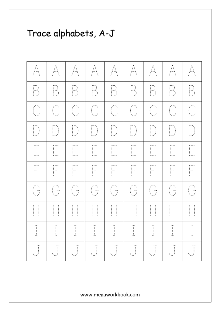English Worksheet   Alphabet Tracing   Capital Letters