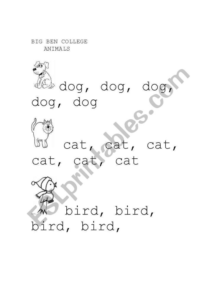 English Worksheets: Trace Pet Animals