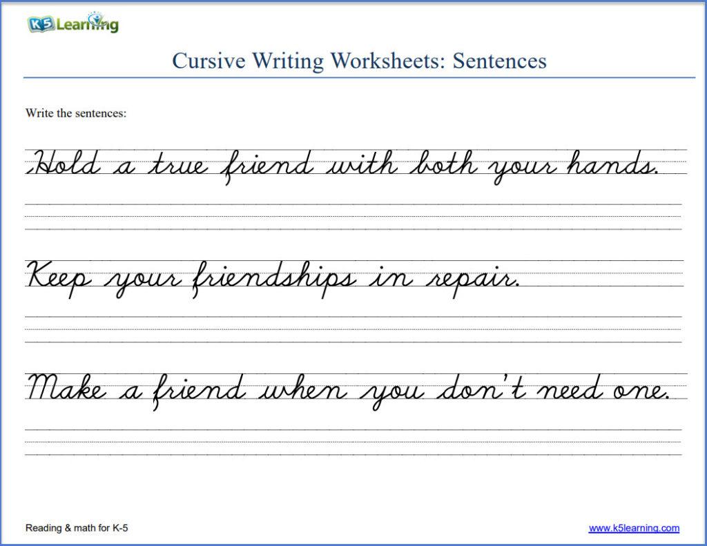 Englishhabet Cursive Writing Practice For Kids Free Sheets