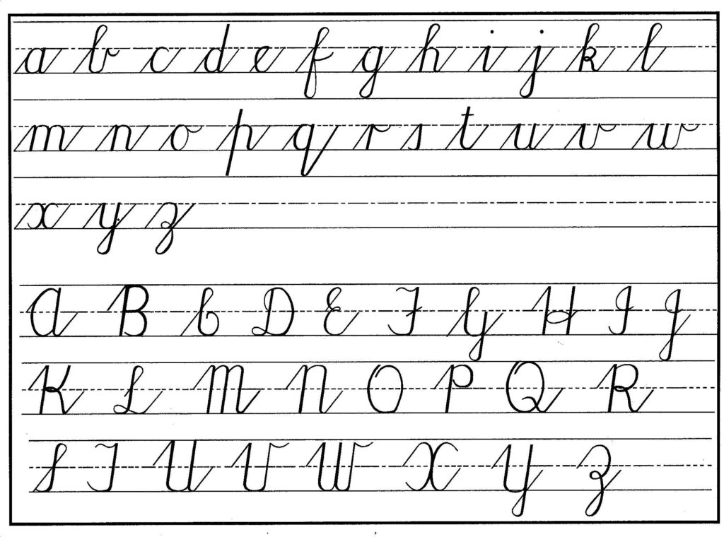 Englisht Cursive Writing Practice Incredible For Kids Free