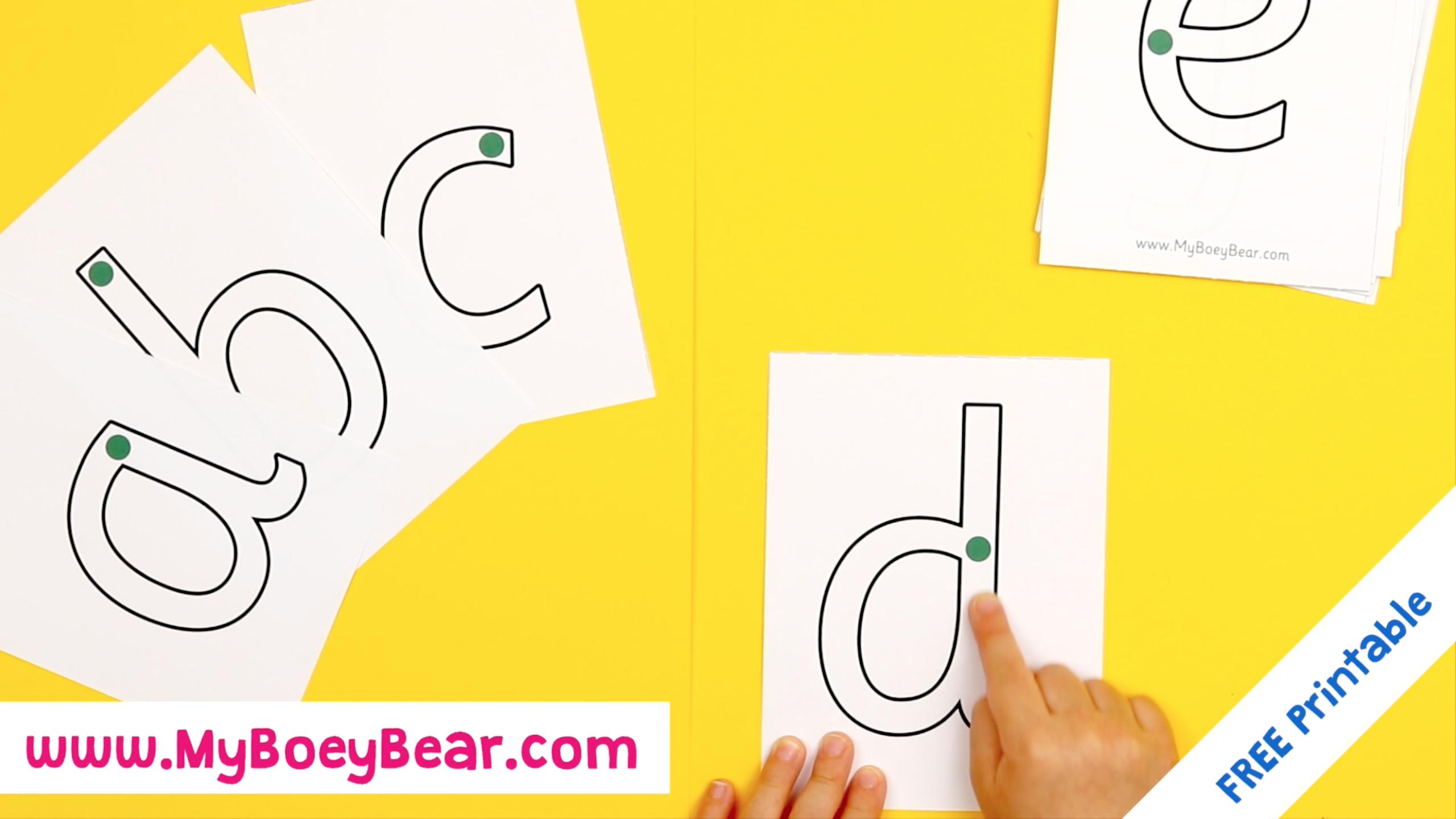 🐻 Montessori Printables - Free Letter Tracing Flashcards for Letter Tracing Montessori