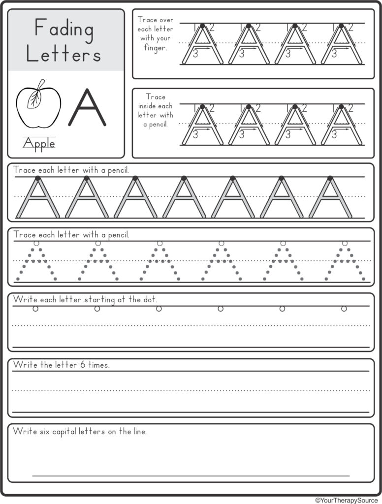 Fading Alphabet Double Line Or Dotted Line Style   Your