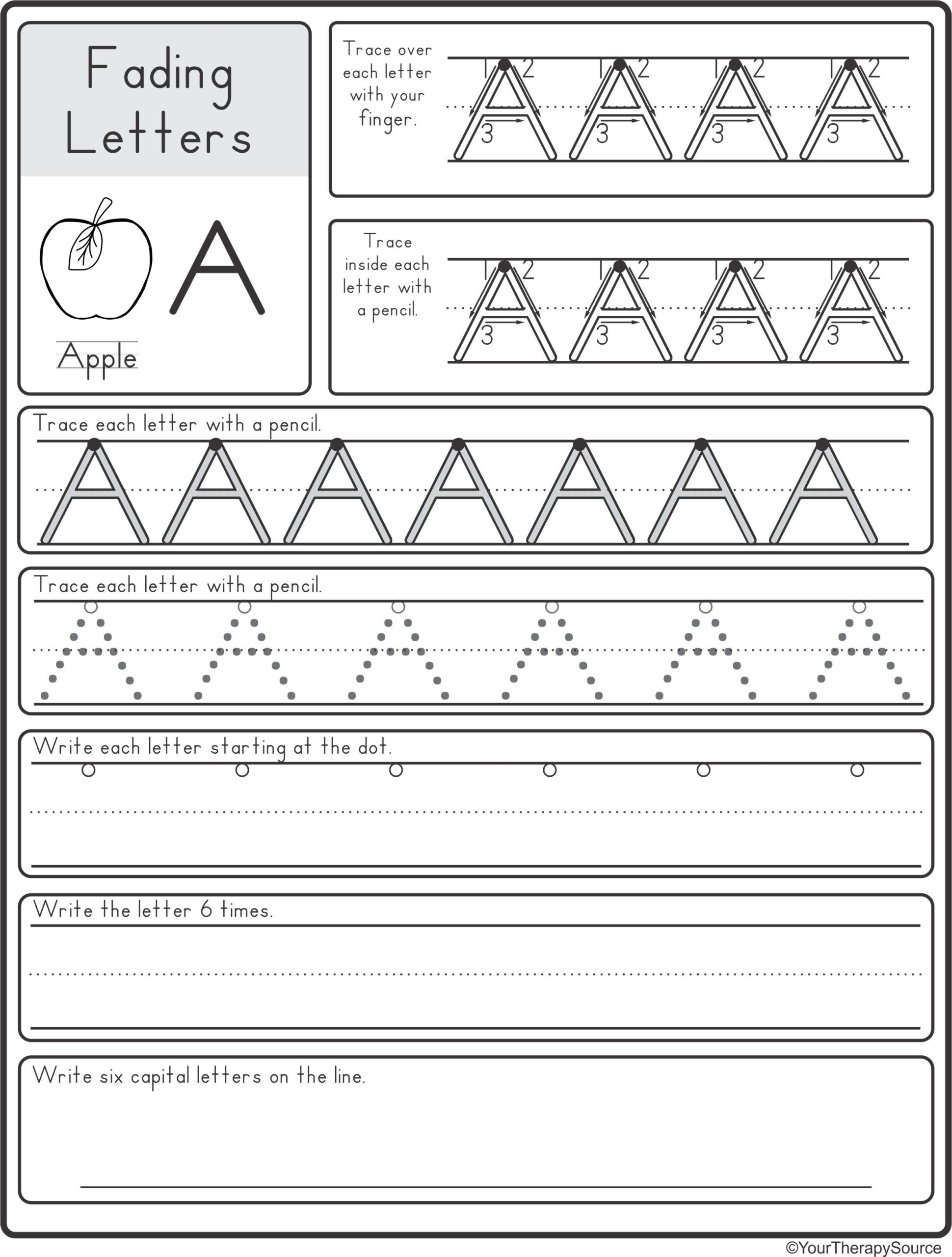 Fading Alphabet Double Line Or Dotted Line Style - Your