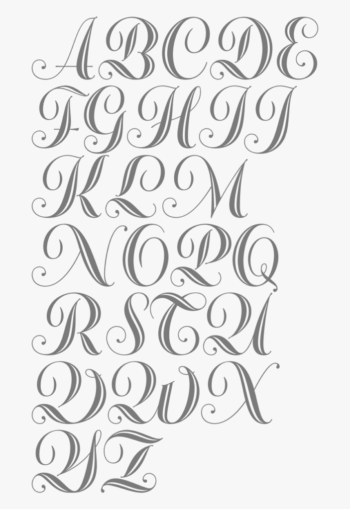 Fancy Bold Cursive Letters, Hd Png Download , Transparent