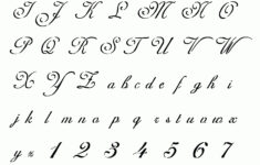 Cursive Alphabet 2019