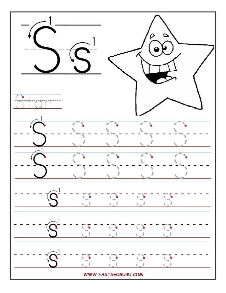 Fastseoguru Files Printable%20Letter%20S%20Tracing In Letter S Tracing Worksheets For Preschool