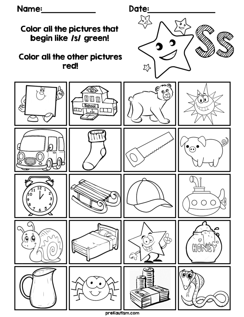 Find & Color Consonants Worksheets | Phonics Kindergarten Inside Letter H Worksheets Soft School